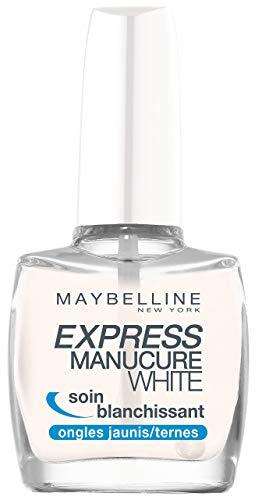 Gemey Maybelline, Express Manicure Base Coat White, trattamento sbiancante