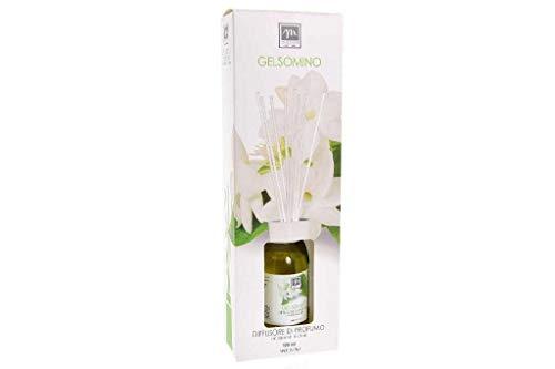 .GIRM® - ME16583 Diffusore d'Essenza con Bastoncini in Cotone Aroma Gelsomino ml 125