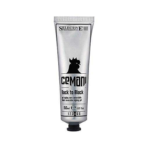 Selective Professional CEMANI Back to Black Gel, da Uomo, 150 Ml, Nero