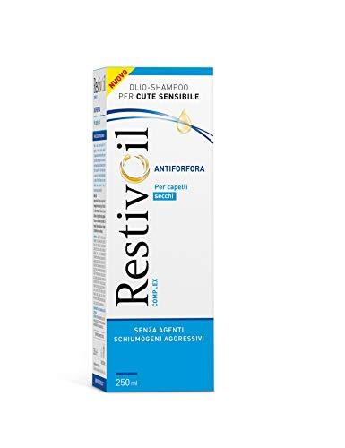RestivOil Complex Shampoo Antiforfora per Capelli, Olio Fisiologico con Azione Antiseborroica e Anti Prurito, per Capelli Secchi, 250 ml