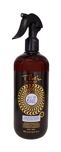 That'so All In One - Acqua Abbronzante Idratante Spray, 500Ml - Stimolatore E Acceleratore Di Abbronzatura Naturale - Con Aloe Vera E Mentolo - Rinfresca, Idrata E Dona Sollievo - 500 ml