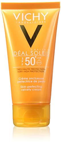 VICHY Idéal Soleil, Crema solare vellutata perfezionatrice della pelle SPF 50+, 50 ml