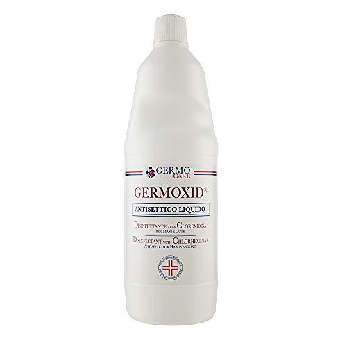 Germoxid Liquido Disinfettante per la Cute Integra alla Clorexidina, Scatola da 12 Flaconi da 1000 ml