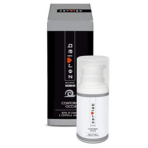 Zerolab Crema Contorno Occhi Uomo Bava di Lumaca Aloe Vera Idratante Nutriente Anti Occhiaie