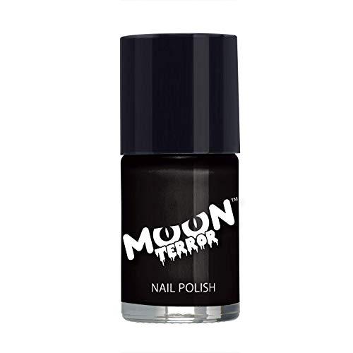 Moon Terror - Smalto per unghie di Halloween - 14ml - Per unghie spaventose. Perfetti per vampiri, fantasmi, scheletri, streghe, zucche, mostri, ecc - Nero Pesto