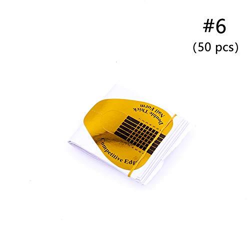 Gel di estensione per unghie, 3 colori, in poligel, per estensione delle dita, per unghie e nail art, 06 (50 pezzi)