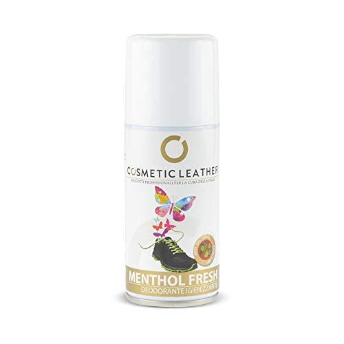 Deodorante per Scarpe Antibatterico elimina Odore 150 ml Menthol Fresh Cosmetic Leather
