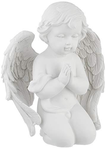 Pajoma 49161angelo in preghiera, piccolo, in resina, altezza 14cm