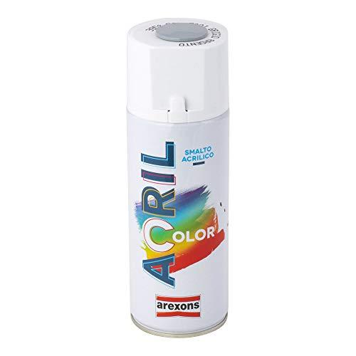 AREXONS RXS015 Smalto Spray Acrilico, Grigio Argento
