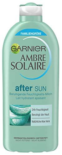 Garnier Ambre Solaire After Sun/Lenitivo Idratante Latte naturale con Aloe Vera (24h Umidità–Dermatologicamente testato) 1er Pack–400ML