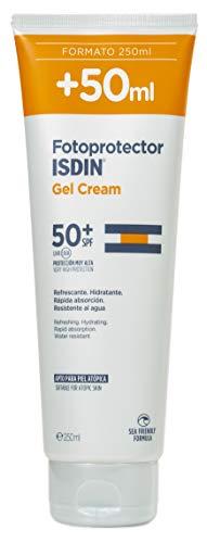 Fotoprotector ISDIN Gel Cream SPF 50+ 250 ml | Crema-Gel corpo rinfrescante e idratante | Assorbimento rapido