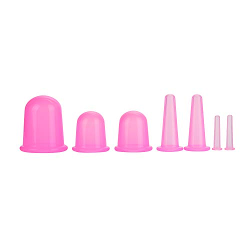 Feibrand Coppette Anticellulite Silicone Cupping 7 Cup Coppettazione Set Viso Massaggi Therapy