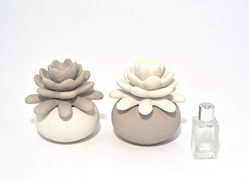 ILAB Set 2 diffusori bomboniere claraluna per Matrimonio cod. 17402, Larghezza 9cm,Altezza: 10 cm,profondità: 7,5 cm, claraluna Nuova Collezione 2019,bomboniera per Matrimonio