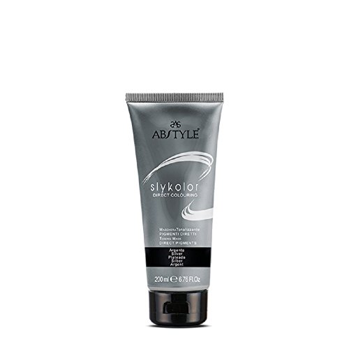 Ab Style - Skycolor maschera tonalizzante con pigmenti diretti uso professionale, argento(200ml)