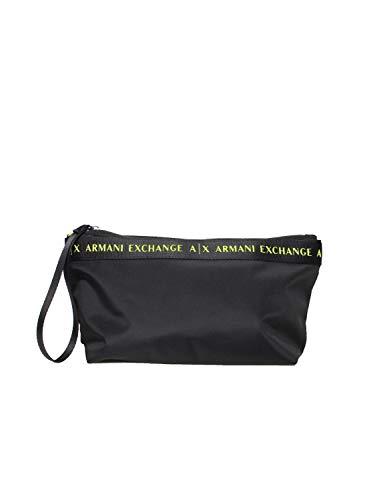 Armani Exchange Junko Small BEAUTYCASE Black, Beauty Case da Viaggio Donna, Nero, Taglia Unica