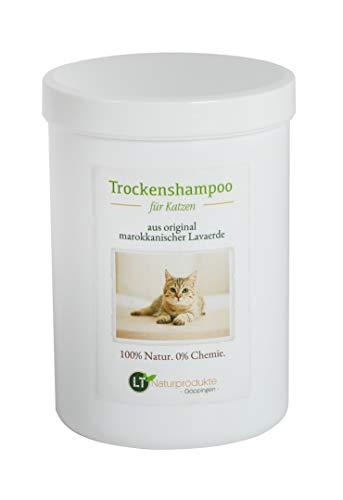 Shampoo secco per gatti – con aerda lavica marocchina originale | Vegan e Bio | per la cura del pelo senza prodotti chimici | 1 kg