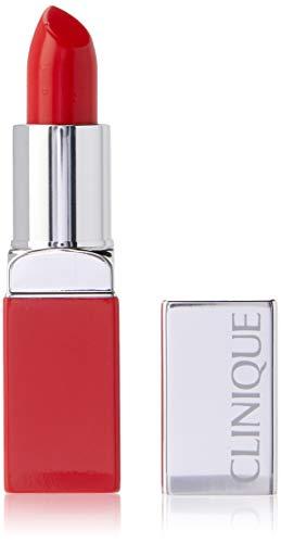 Clinique Pop Rossetto intenso + Base perfezionatrice per labbra, colore: 06-Poppy Pop