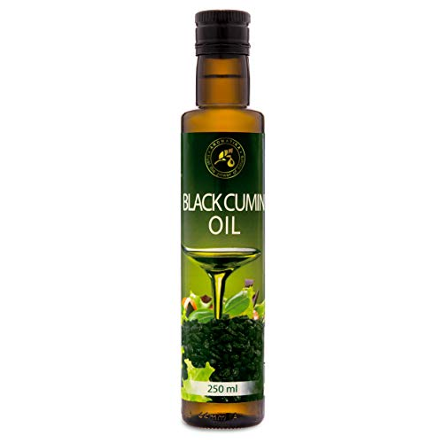 Olio di Semi di Cumino Nero 250 ml - Pressato a Freddo - Olio di Cumino Nero Puro e Naturale per la Pelle - Capelli