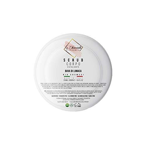 La Chiocciola Scrub Corpo biologico con Sale Marino e Bava di Lumaca. Esfoliante e Purificante -250 ml