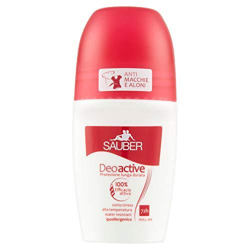 SAUBER deoactive 72h roll on - deodorante 50 ml