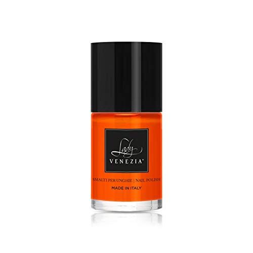 Smalto EXTRABRILLANTE per unghie CHIC COLLECTION 146 colori esclusivi Boccetta da 11 ml (SMALTO CHIC ARANCIO FLUO COL. 92-11 ML)