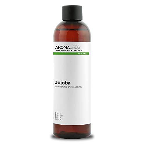 BIO - Olio di Jojoba, garantito 100% puro, naturale e spremuto a freddo - Biologico certificato da Ecocert - Aroma Labs
