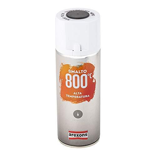 AREXONS SMALTO 100% ACRILICO ALTA TEMPERATURA (fino a 800 °C) Smalto spray Nero 400 ml vernice spray universale smalto acrilico resine di alta qualità essiccazione rapida bomboletta spray