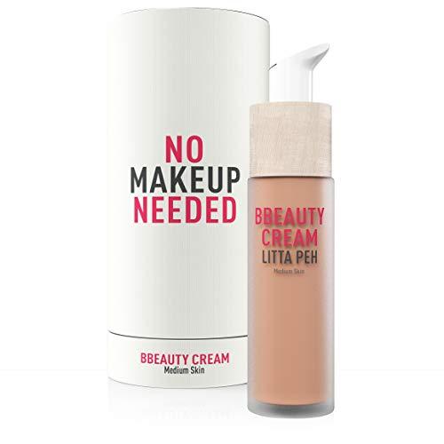 Litta Peh - BBEauty Cream - BB Creme - Crema viso idratante con colore - Trattamento organico anti-imperfezione - 50ml (Media)