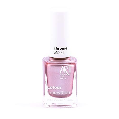 Art 2C Rise & Shine Chrome Effect Nail Polish - Smalto per unghie effetto cromato, 6 colori, 12 ml, colore: CH04