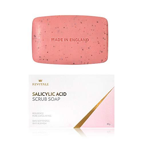 Acido salicilico Scrub Pori Sapone esfoliante, Acne Fighting, ammorbidire la pelle, anti-Blemish, rimuove le verruche