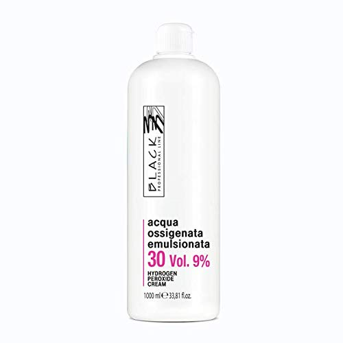 OSSIGENO 10 20 30 40 VOLUMI PER CAPELLI EMULSIONATO 1000 ml BLACK PROFESSIONAL (30 VOLUMI)