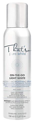 That'So On The Go Light White - Spray Primer Illuminante E Correttivo Per Le Macchie Solari 150 Ml