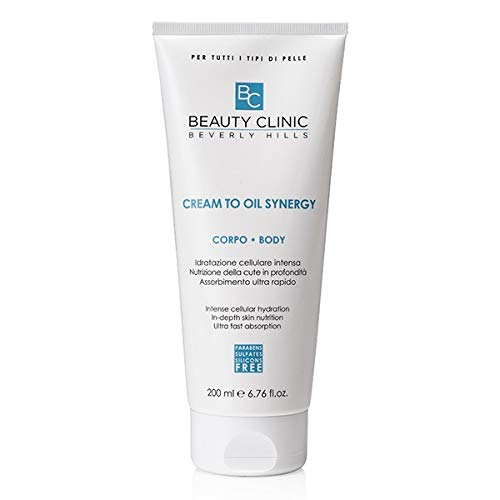 Beauty Clinic - Cream To Oil Synergy Corpo - Crema Idratante Corpo - Olio Crema Corpo per Idratazione Intensa - 200 ml