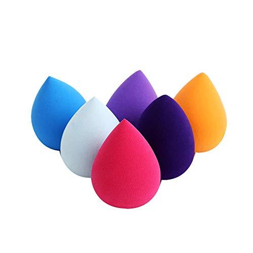 Cosanter 6 Pezzi Spugnetta per Trucco Beauty Blender Spugna Trucco per Il Trucco di Fondazione per Applicare Blush Correttore, Ombretto, Cipria