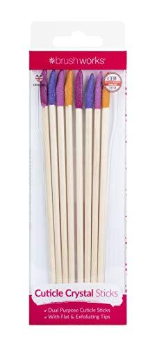 Brushworks Brushworks Cuticle Crystal Sticks - 8 Pack