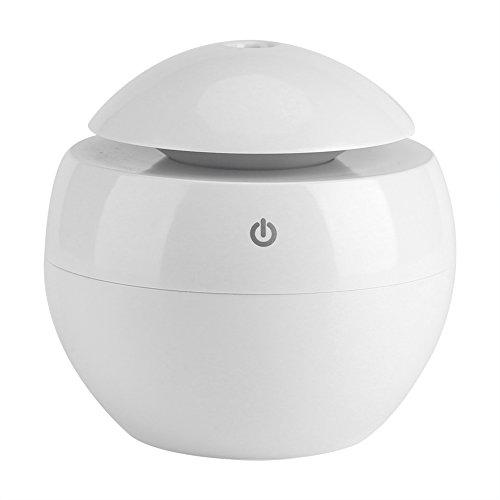 Umidificatore, USB Essential LED Touch Aroma Umidificatore ad ultrasuoni Diffusore di olio Purificatore d'aria(bianca)
