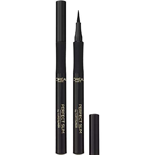 L'Oréal Paris Superliner Perfect Slim, Eyeliner in Penna, Colore Nero intenso