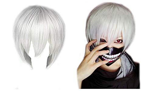 Maschera + Parrucca Bianca Tokyo Ghoul Kaneki Ken