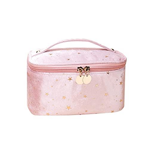CHUQING Beauty Case da Viaggio,Trousse Make Up donna,Borsa per Trucchi,Organizer per Trucchi, Borsa Cosmetica,rosa