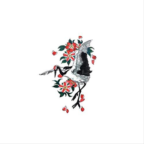 LNNHJB Adesivo per Tatuaggio Resistente all'Acqua inciso Fiore di ciliegio dareno