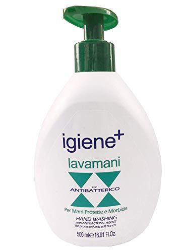 Igiene + - Sapone Liquido Per Mani Igienizzante Antibatterico–500 ml