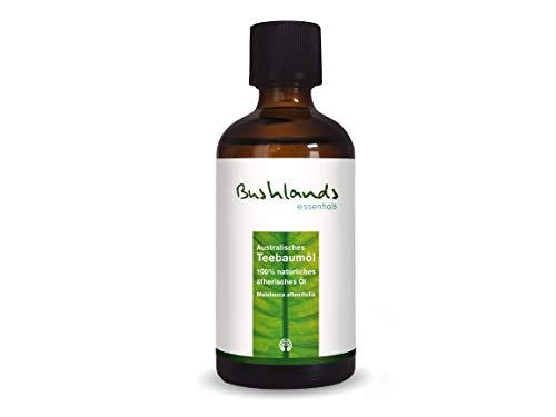 Bushlands essentials Tea Tree Oil Olio essenziale dell'albero del tè, 100% Puro, naturale, olio dell'albero del tè australiano 100 ml (3,38oz)
