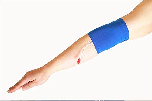 Protezione per PICC per il braccio, manica di protezione infermieristica per adulti e bambini (peso indicativo: 40-95 kg), ultra morbida, confortevole, blu