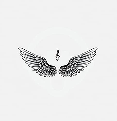 LYDP Adesivi per tatuaggi, impermeabili, ali di flessione, resistenti per uomini e donne