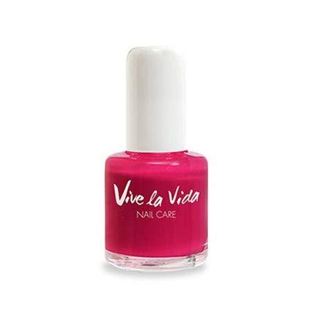 VIVE LA VIDA - Smalto Rosa - 8 FREE - lunga durata - unghie perfette - privi di sostanze dannose - Vegan - 10ml