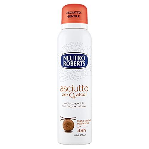 Neutro Roberts Deodorante Spray Asciutto Legno, Sandalo e Patchouli - 150 ml
