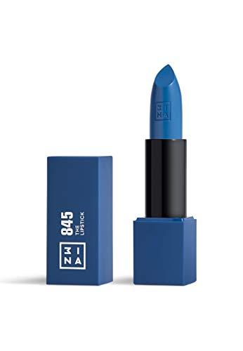 3ina MAKEUP - Vegano - Cruelty Free - The Lipstick 845 - Rossetto Matt Lunga Durata - Long Lasting Lipstick - Alta Pigmentazione - Ceruleo Scuro