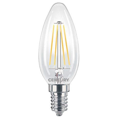 CENTURY LAMPADA OLIVA FILAMENTO LED INCANTO CANDELA - 6W - E14-27