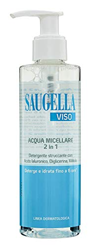 Saugella Viso Acqua Micellare 2In1 Con Acido Ialuronico Diglicerina E Xilitolo Per Rimuovere Impurità E Make Up - 200 Ml