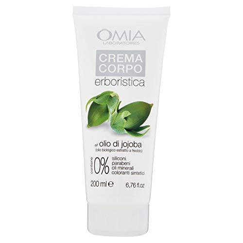 Omia Crema Corpo Erboristica con Olio di Jojoba, Crema Emolliente e Nutritiva, 200 ml